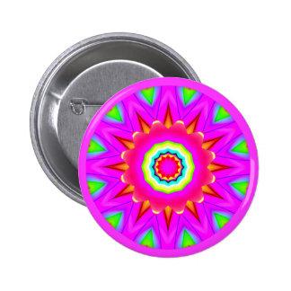 Fractal Mandala 6 Cm Round Badge