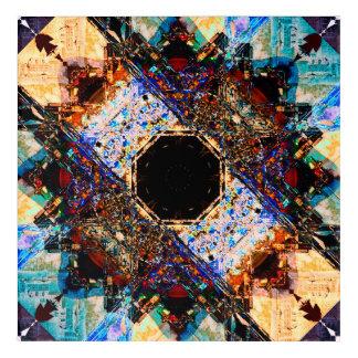 Fractal Mandala Acrylic Wall Art