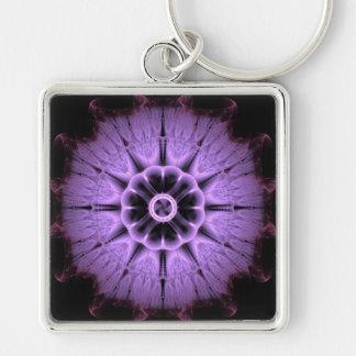 Fractal Mandala Key Ring