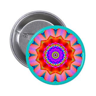 Fractal Mandala Pinback Button
