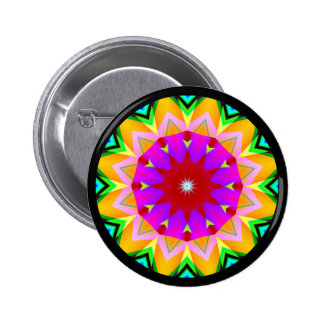 Fractal Mandala Pinback Buttons
