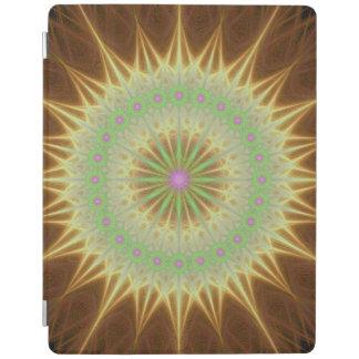 Fractal mandala sun iPad cover