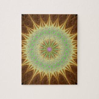 Fractal mandala sun jigsaw puzzle