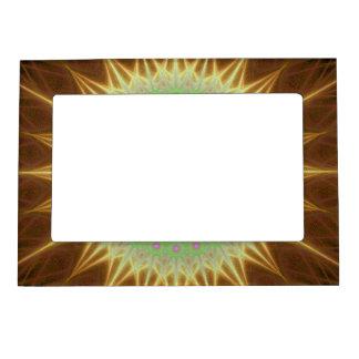 Fractal mandala sun magnetic frame