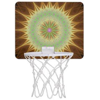 Fractal mandala sun mini basketball hoop