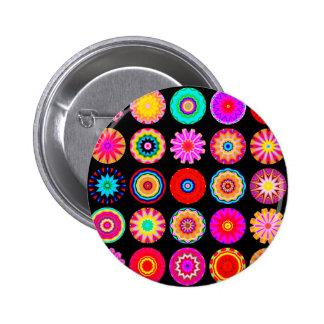 Fractal Mandalas 6 Cm Round Badge