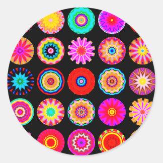 Fractal Mandalas Classic Round Sticker