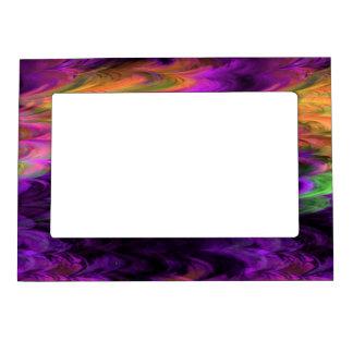 Fractal Marble 4-1 Picture Frame Magnet