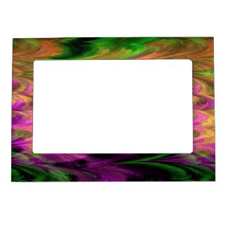Fractal Marble 4-3 Picture Frame Magnet