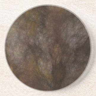 Fractal Marble Grunge Series-10---Brn coaster-1 of Coaster