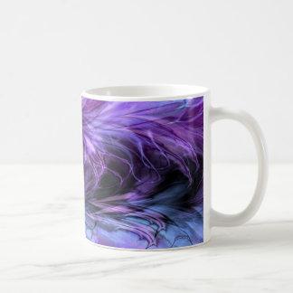 Fractal Marble Purple Mug Coffee Mugs