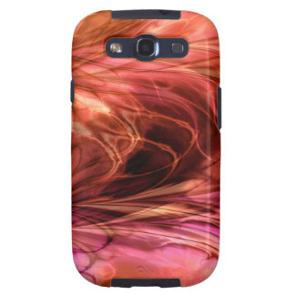 Fractal Marble Red Samsung Galaxy SIII Cover