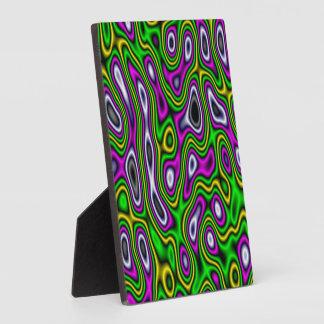 Fractal Maze Yellow Green Magenta Photo Plaque