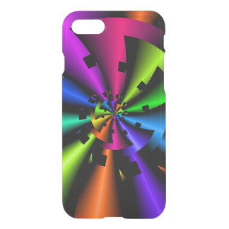 Fractal Metallic Rainbow Spiral iPhone 7 Case