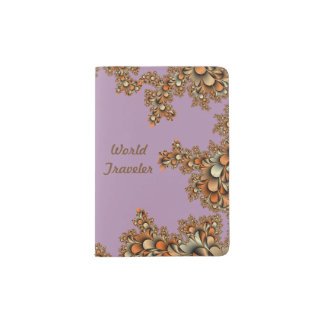 Fractal Modern Design Purple Passport Holder