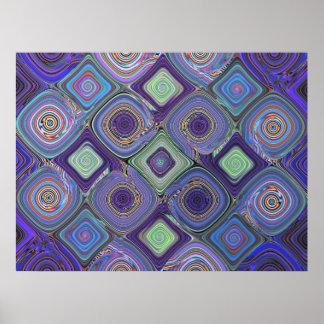 Fractal Mosaic 2 Abstract Art Poster