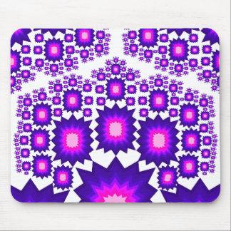 Fractal Mousepad: Purple: Blue: Pink Mouse Pad