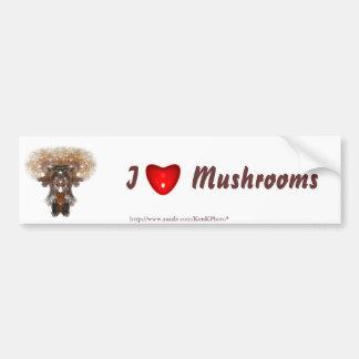 Fractal Mushroom Bumper Sticker