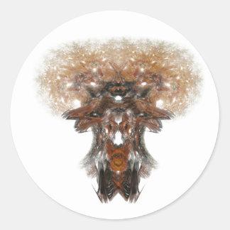Fractal Mushroom Sticker
