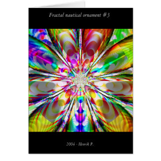 Fractal nautical ornament #3 card