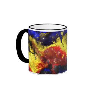Fractal Nebula 1 Ringer Coffee Mug