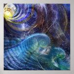 Fractal Ocean Print