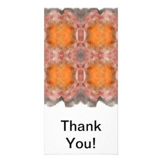 Fractal Orange Photo Card Template