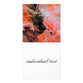 Fractal orange (SF) Photo Card Template