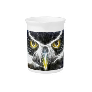 fractal owl design pitcher