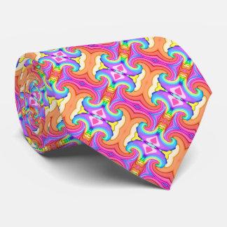 Fractal Pastel Colours Swirl Pattern Tie