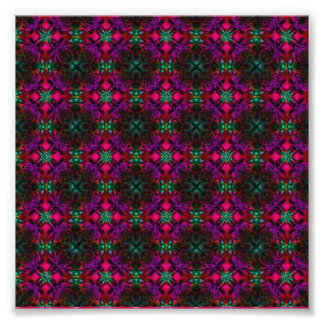 Fractal Pattern pink green purple red Art Photo