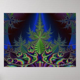Fractal Pine Tree Poster