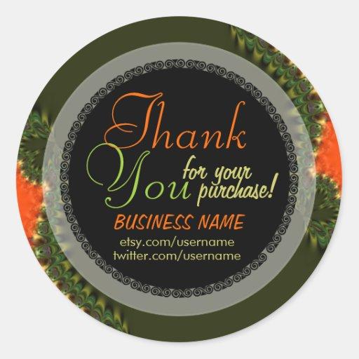 Fractal Planet Business Thank You Sticker