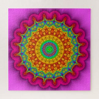 Fractal Prismatic Kaleidoscope Jigsaw Puzzle