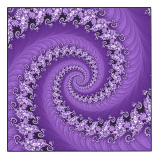 Fractal Purple Double Spiral Wall Panel