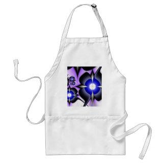Fractal Purple flowers Standard Apron