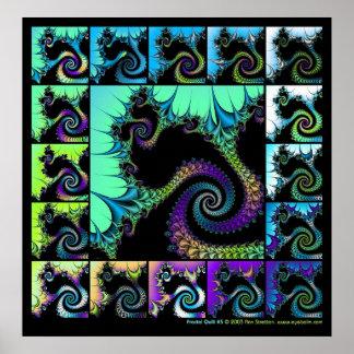 Fractal Quilt #5 Poster