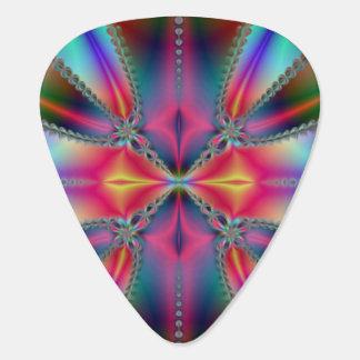 Fractal Rainbow Guitar Pick