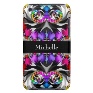 Fractal Rainbow Touch Monogram iPod Touch Case-Mate Case