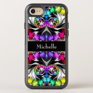 Fractal Rainbow Touch Monogram OtterBox Symmetry iPhone 8/7 Case