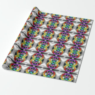 Fractal Rainbow Touch Wrapping Paper
