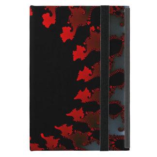 Fractal Red Black White Cover For iPad Mini