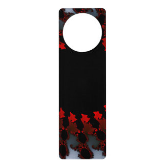 Fractal Red Black White Door Knob Hanger