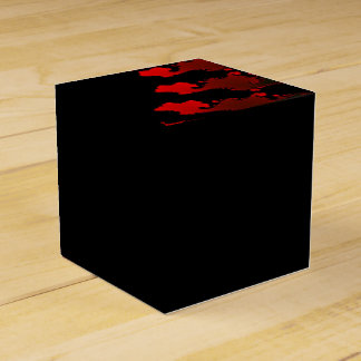Fractal Red Black White Favour Box