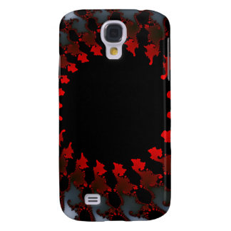 Fractal Red Black White Galaxy S4 Cases