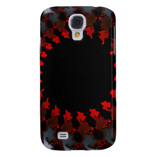 Fractal Red Black White Galaxy S4 Cover