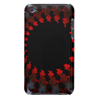 Fractal Red Black White iPod Touch Covers