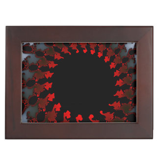 Fractal Red Black White Keepsake Box