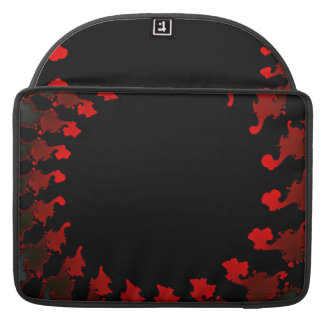 Fractal Red Black White Sleeve For MacBooks