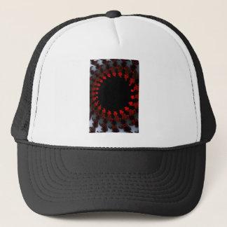 Fractal Red Black White Trucker Hat